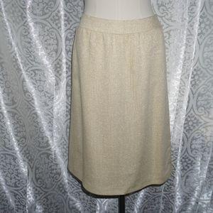 NWT Escada pale yellow shimmer spring skirt